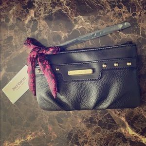 NWT Juicy Couture black wristlet with scarf